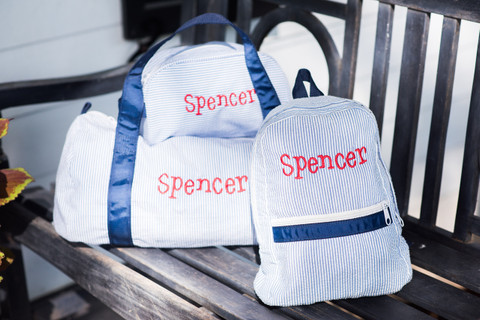Mint Personalized Travel Set in Navy