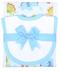 3 Marthas | Personalized Burp Pad and Drooler Set - Dinosaur Print