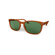 Blueberry Sunglasses XL Toffee, Green Lenses