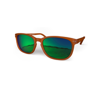 Blueberry Sunglasses XL Toffee, Green MIRROR Effect Lenses