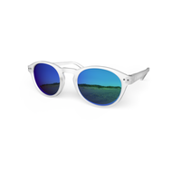 Blueberry Sunglasses L+ Crystal, Sky Blue Mirror Lenses