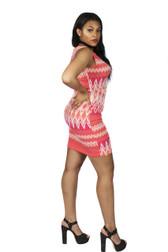 Tank Dress with side pleats