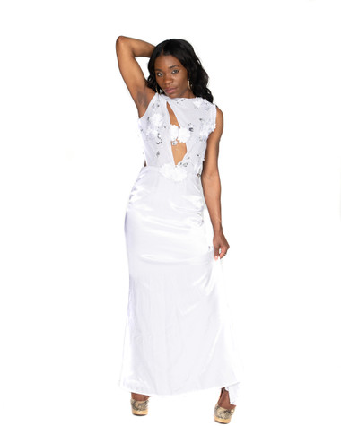 White Satin Gown