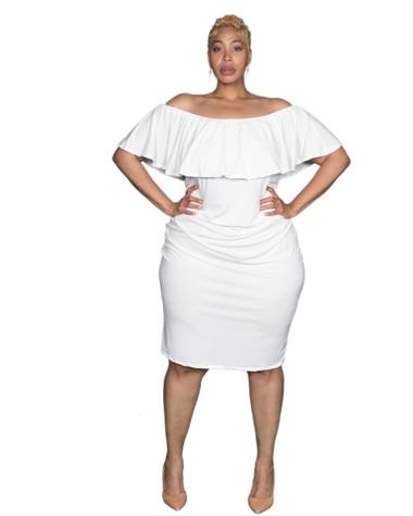 Off Shoulder off white dress