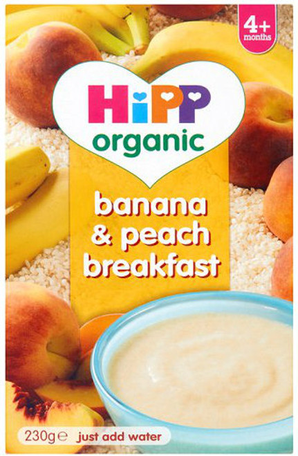 HiPP Banana & Peach Organic Breakfast Porridge Cereal (230g)