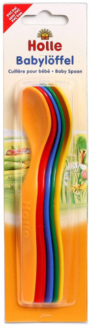Holle 5 Colorful Baby Spoons (Babyloffel) BPA & PVC FREE