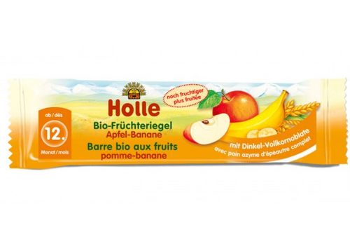 Holle Apple & Banana Organic (Bio) Fruit Bar (Fruchteriegel)