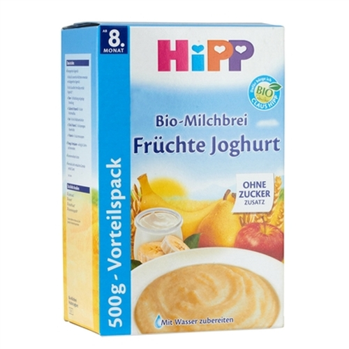 HiPP Value Pack: Fruit Yogurt Organic (Bio) Milk Porridge Cereal (500g)