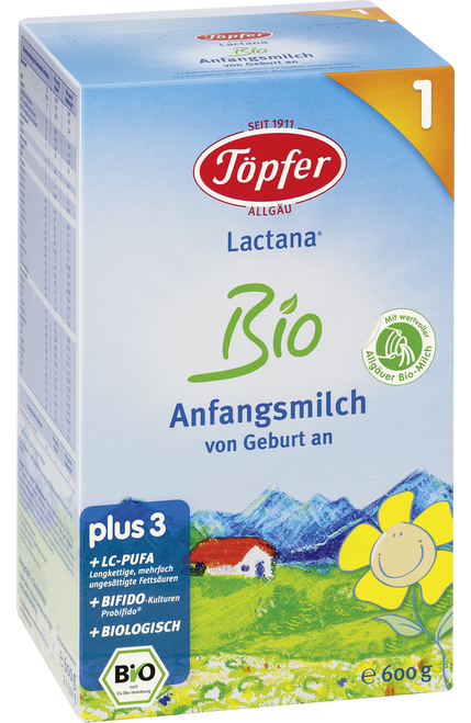 Topfer Stage 1 Lactana Organic (Bio) Infant Milk Formula (600g)
