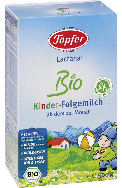 Topfer Stage 4 Lactana Organic (Bio) Childrens' Milk Formula (500g)