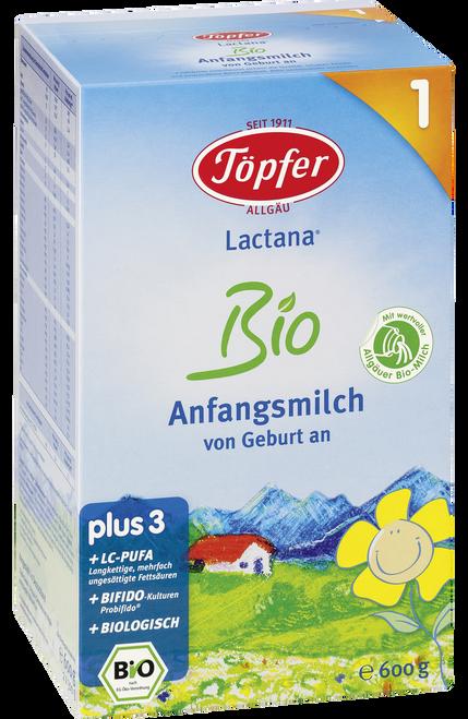 **Quick Expiration** Topfer Stage 1 Lactana Organic (Bio) Infant Milk Formula (600g)