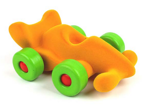 """Rubbabu Soft and Natural Toys: Yellow Modena the Racer (9"""")"""