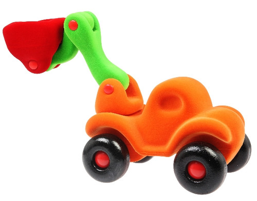 "Rubbabu Soft and Natural Toys: Orange Bully the Bulldozer (7.5"")"
