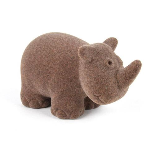 """Rubbabu Soft and Natural Toys: Gray Rhino (~4"""")"""