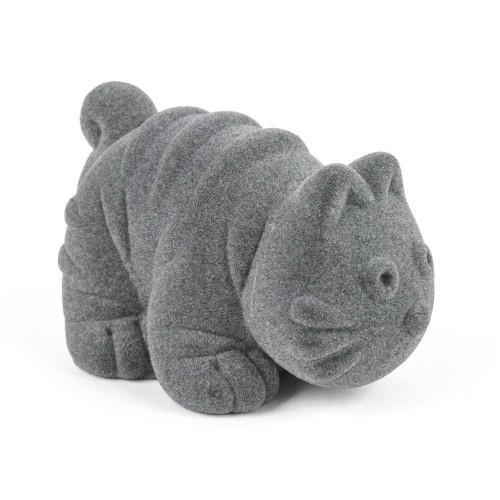 "Rubbabu Soft and Natural Toys: Gray Cat (~4"")"