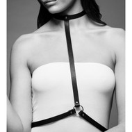 The Maze Collection Maze I Harness by Bijoux Indiscrets-Black