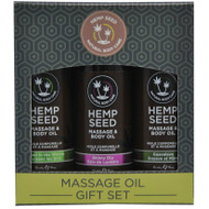 Hemp Seed Massage and Body Oil Gift Set by Earthly Body