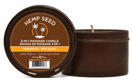 Earthly Body Hemp Seed 3 In 1 Round Massage Candle-Dreamsicle