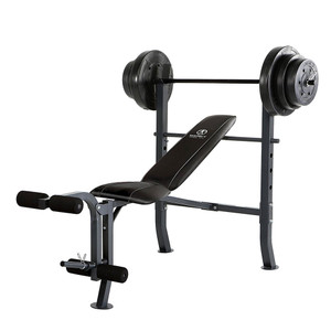 The Standard Bench with 100lb Weight Set Marcy Diamond Elite MD-2082W is a complete weightbench with weights that is perfect for your home gym