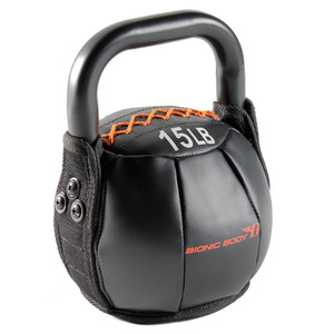 The 15 lbs. Bionic Body Kettle Bell is soft so you do not have to worry about getting hurt, it will optimize your HIIT conditioning workout!