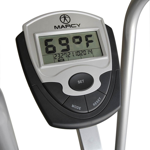 The Marcy AIR-1 Deluxe Fan Bike has a large screen so you can monitor your workout