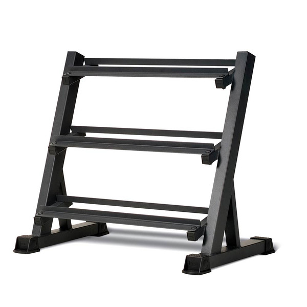 The Marcy 3 Tier Dumbbell Rack DBR-86 has a sturdy construction that is built to last