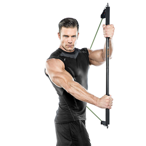 Bionic Body BBEB-20 Exercise Bar in use by Model