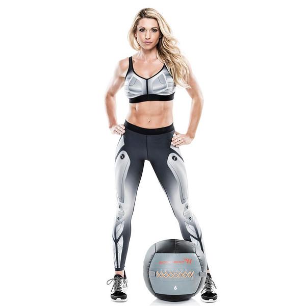 Kim Lyons with the Bionic Body 6 lb. Medicine Ball