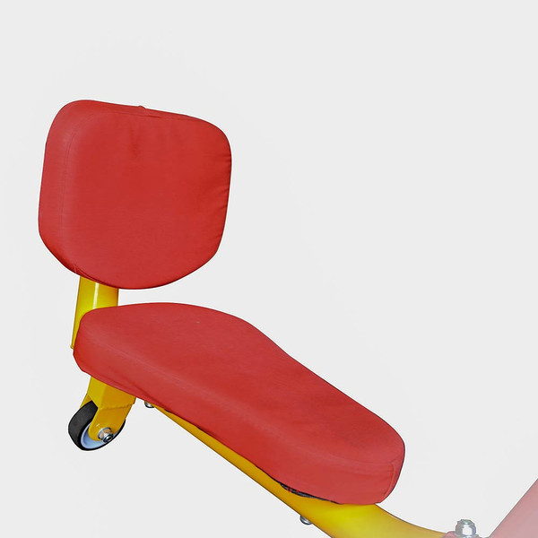 The  Gym Dandy Spinning Teeter Totter TT-360 Seesaw has comfortable seats for extended play