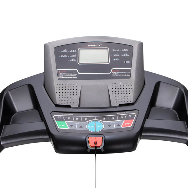 The Marcy Motorized Folding Treadmill JX-650W has a large display screen to make it easy to keep track of your progress