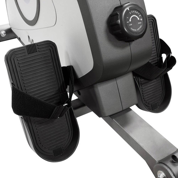 The Rowing Machine Marcy NS-40503RW has large looped pedals for added safety