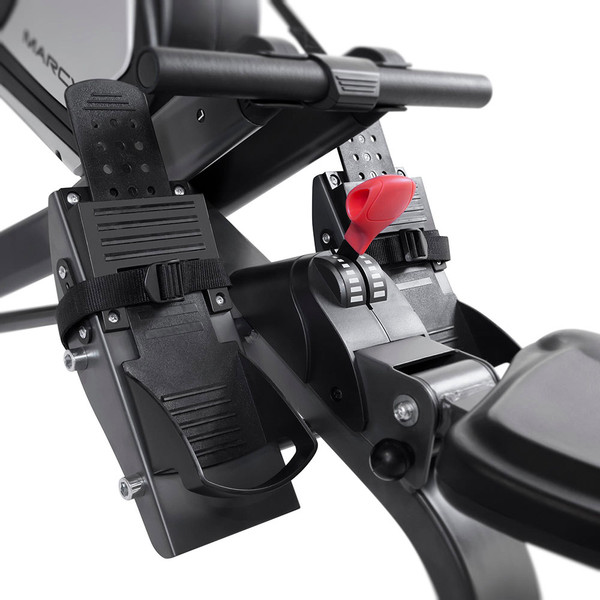 The Marcy Turbine Rower NS-6050RE has sturdy and secure pedals