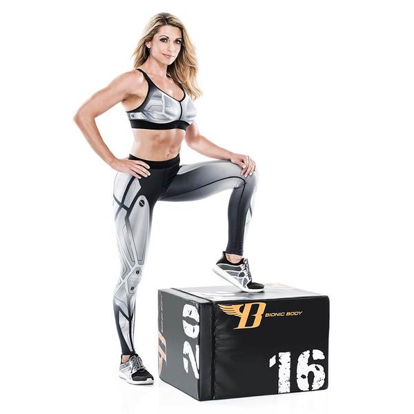 Kim Lyons Standing with Bionic Body plyo box