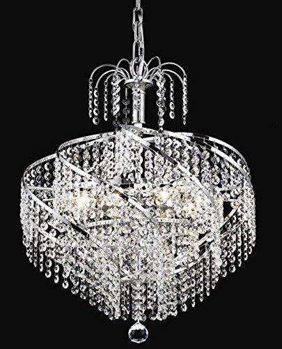spiral crystal chandelier