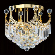 Crystal flush mount chandeliers KL-41042-16-G