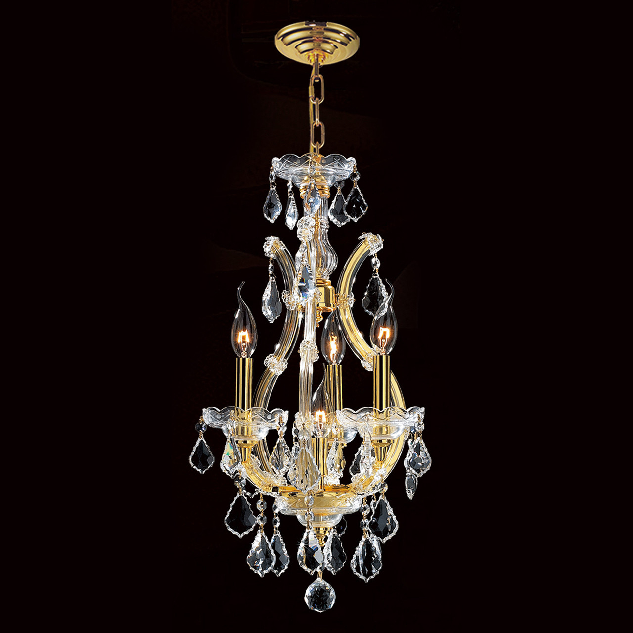 4 Light Maria Theresa mini crystal Chandeliers