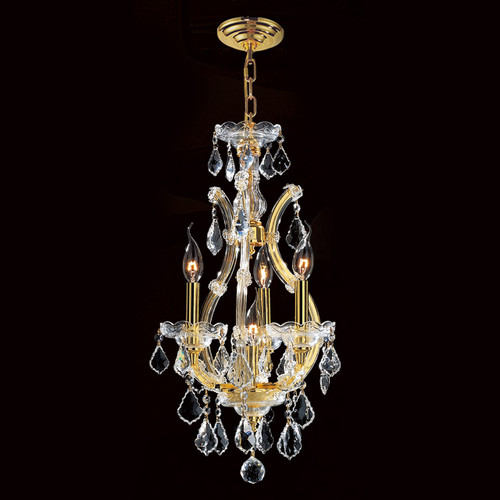 4 Light Maria Theresa mini crystal Chandeliers KL-41039-4-G