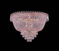 Flush mount crystal chandeliers KL-41037-2012-G