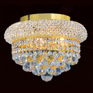 Bagel Crystal Flush Mount Light KL-41035-126-G
