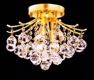 Contour Crystal Flush Mount Chandelier KL-41038-1212-G