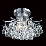 Contour Crystal Flush Mount Chandelier KL-41038-1612-C