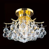 Contour Crystal Flush Mount Chandelier KL-41038-1612-G
