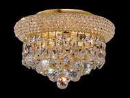 Bagel Crystal Flush Mount Light KL-41035-107-G