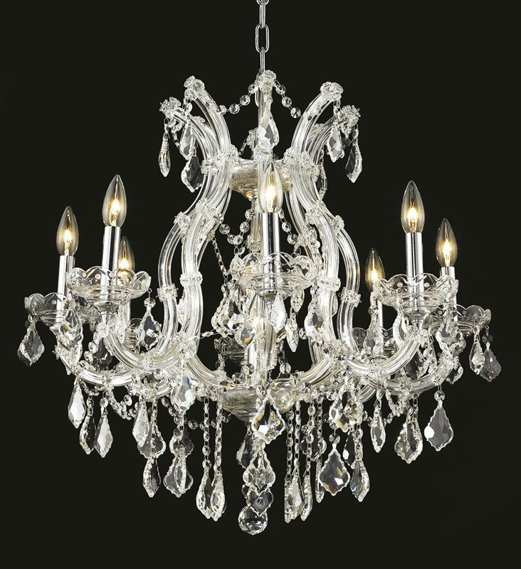 9 Light Maria Theresa Crystal Chandelier 2800D26C