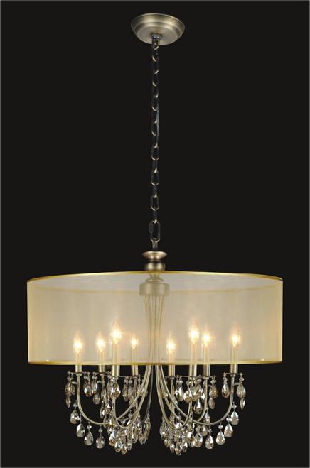 8 light crystal chandelier with golden teak shade md84768anb 8 light crystal chandelier with golden teak shade kl 41052 2824 gt aloadofball Choice Image