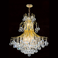 Contour Crystal Chandeliers KL-41038-22-G