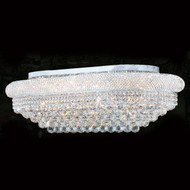 Bagel Crystal Flush Mount Light KL-41035-3620-C oval