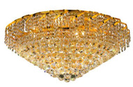 Cinderella Crystal Flush mount Light KL-41041-3016-G