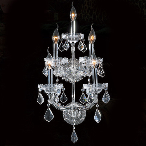 5 Light Maria Theresa Crystal Wall Sconce KL-41039-5-C