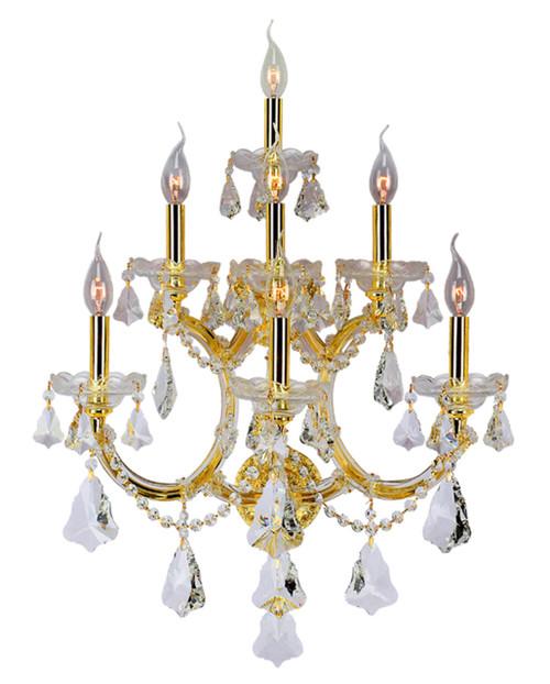 7 Light Maria Theresa Crystal Wall Sconce KL-41039-7-G